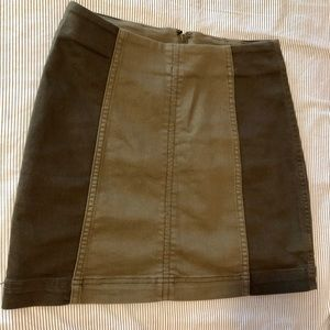 Free People 2 toned Skirt- green